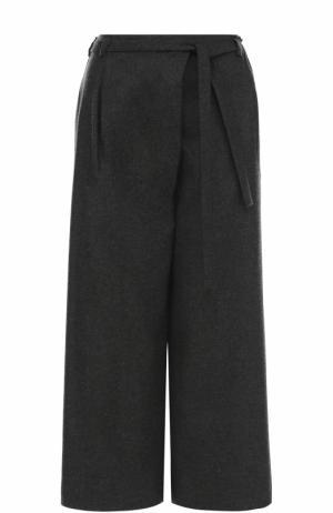 Укороченные кашемировые брюки с поясом Loro Piana. Цвет: темно-серый