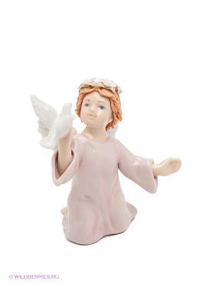 Фигурка Ангелочек Pavone. Цвет: белый, розовый, светло-коричневый