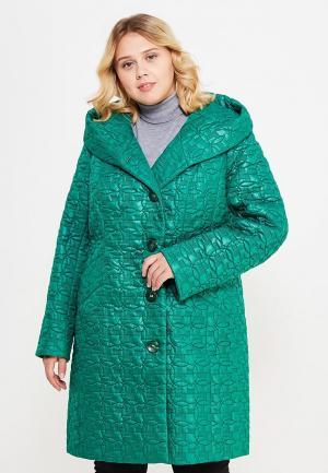 Куртка утепленная Brillare. Цвет: зеленый