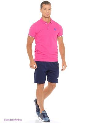 Футболка Varsity Polo Puma. Цвет: розовый