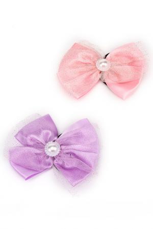 Набор резинок NICE GIRL. Цвет: розовый, сиреневый