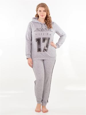 Спортивный костюм HELLO MODA!. Цвет: серый