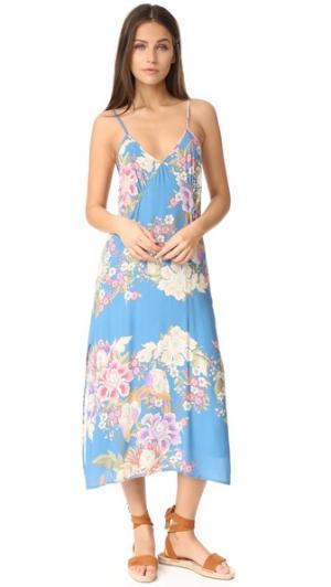 Платье-комбинация Blue Skies SPELL. Цвет: голубой