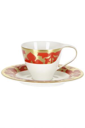Набор из 6 кофейных пар Royal Bone China. Цвет: белый