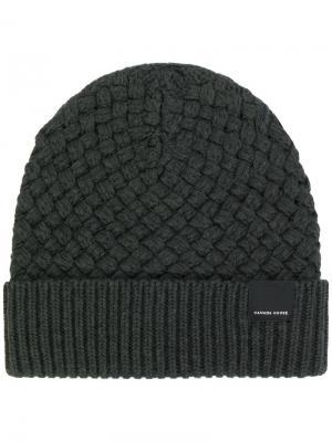 Трикотажная шапка-бини Canada Goose. Цвет: серый