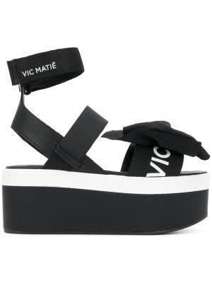 Кроссовки на платформе с бантами Vic Matie. Цвет: чёрный