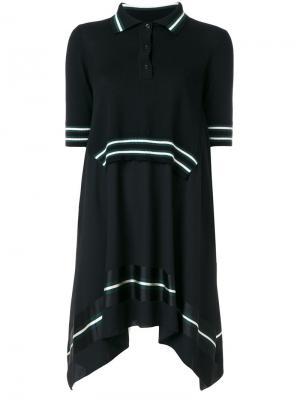 Ярусное платье с воротником-поло  IM Isola Marras I'M. Цвет: чёрный