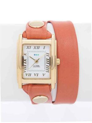 Часы La Mer Collections Simple Double Canyon. Цвет: оранжевый
