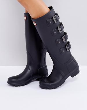 Hunter Черные резиновые сапоги Original Tall. Цвет: черный