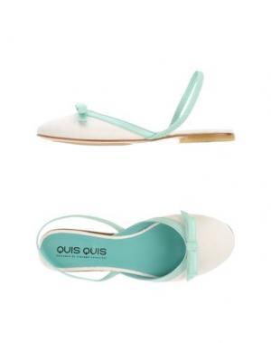 Балетки QUIS. Цвет: белый