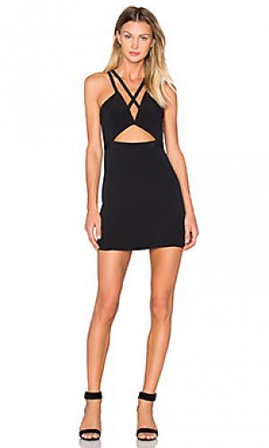 Облегающее платье на бретельках mind-alter NBD. Цвет: черный