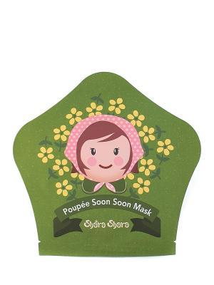 Тканевая маска-капсула Poupee-Soon Soon, 25 г Shara. Цвет: зеленый
