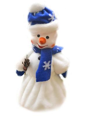 Кукла Снеговик с метлой под елку, 40 см (с ёмкостью для конфет) Карнавал-Премьер. Цвет: прозрачный
