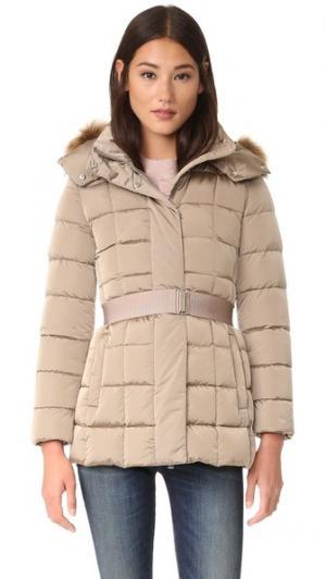 Пуховая куртка с меховой отделкой Add Down. Цвет: мокко