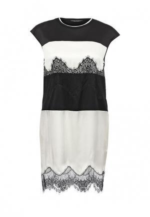 Платье Twin-Set Simona Barbieri. Цвет: черно-белый