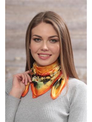 Платок FOMAS. Цвет: оранжевый, черный