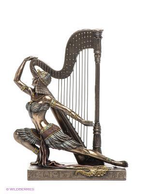 Статуэтка Египтянка с арфой Veronese. Цвет: коричневый