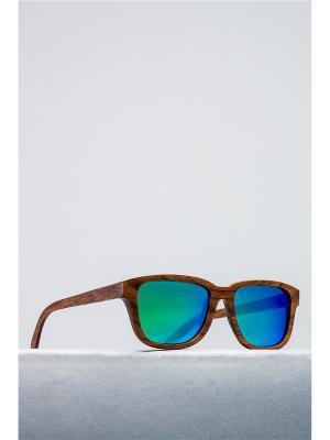 Солнцезащитные очки Nothing but Love. Цвет: коричневый, зеленый