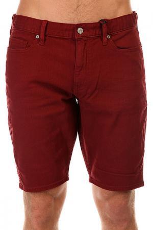 Шорты джинсовые DC Colour Shorts Syrah Shoes. Цвет: бордовый