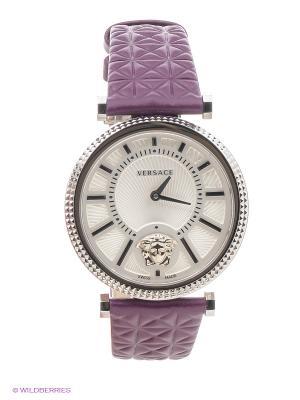 Часы Versace. Цвет: серебристый, белый, фиолетовый
