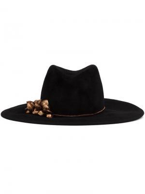 Широкополая шляпа Gigi Burris Millinery. Цвет: чёрный