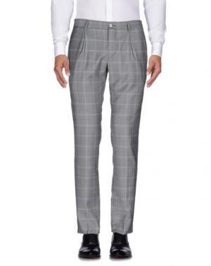 Повседневные брюки BRIAN DALES. Цвет: серый