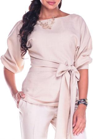 Блуза Laura Bettini. Цвет: бежевый