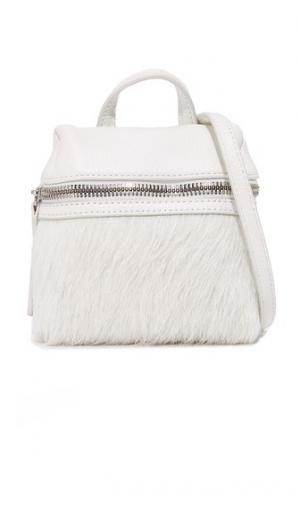 Небольшая сумка-портфель из кожи с коротким ворсом KARA