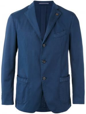 Джинсовый пиджак Gabriele Pasini. Цвет: синий