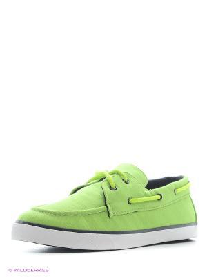 Топсайдеры 4U. Цвет: светло-зеленый