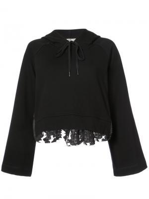 Wide sleeve hoodie Sea. Цвет: чёрный