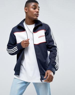 Adidas Originals Синяя спортивная куртка London Pack Block BK7846. Цвет: синий