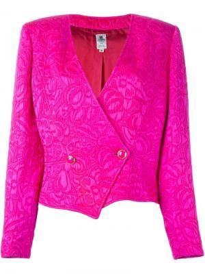 Пиджак с цветочным узором Emanuel Ungaro Vintage. Цвет: розовый и фиолетовый