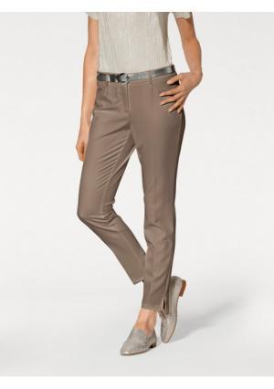 Моделирующие брюки Ashley Brooke. Цвет: молочно-белый, серо-коричневый