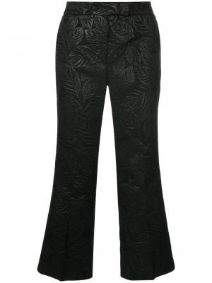 Текстурированные укороченные брюки Essentiel Antwerp. Цвет: чёрный