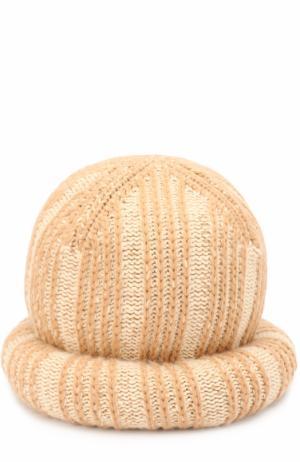 Вязаная шапка из шерсти и кашемира Marc Jacobs. Цвет: бежевый