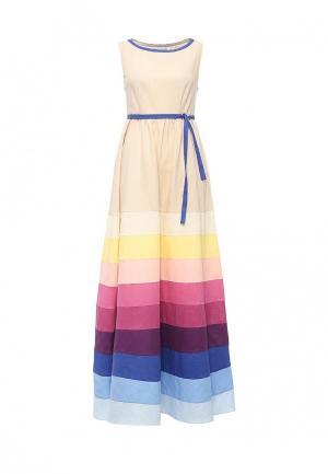 Платье Voielle. Цвет: бежевый