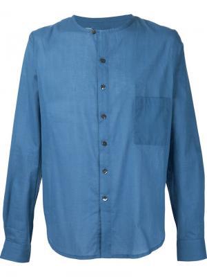 Рубашка с круглым вырезом By Walid. Цвет: синий