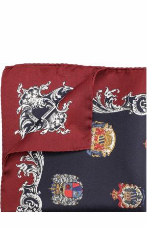 Шелковый платок с принтом Dolce & Gabbana. Цвет: темно-синий