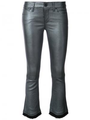 Cropped raw edge trousers Rta. Цвет: серый