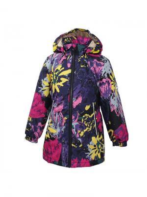 Куртка для девочек JUNE HUPPA. Цвет: черный