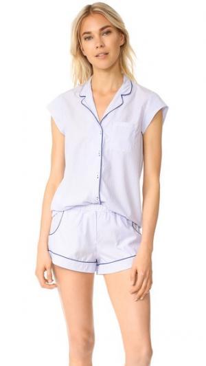 Пижама Olivia Three J NYC. Цвет: голубой с линиями в полоску