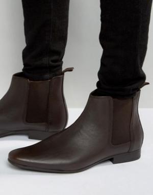Frank Wright Коричневые кожаные ботинки челси. Цвет: коричневый