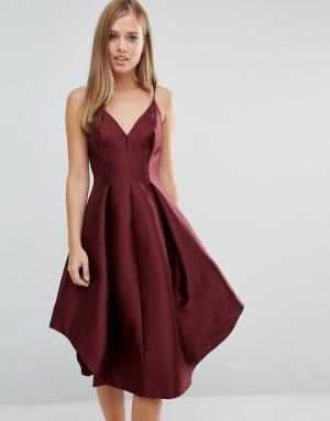 Keepsake Платье миди Translate. Цвет: красный
