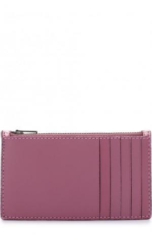 Кожаный футляр для кредитных карт с отделением на молнии Coach. Цвет: розовый
