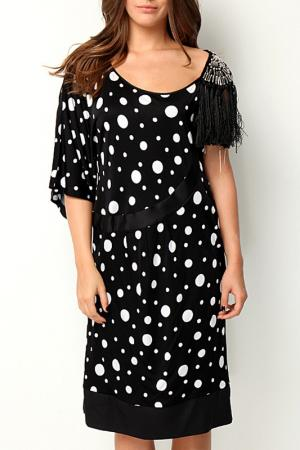 Платье GRAND POMMES. Цвет: black and white
