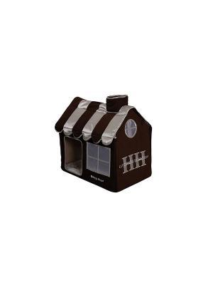 Вилла CAT LIFESTYLE черный M 62*42*59 см для кошек Happy House. Цвет: черный, серый