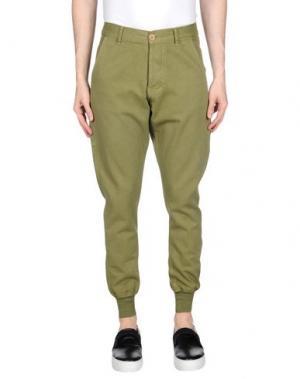 Повседневные брюки BLEU DE PANAME. Цвет: зеленый-милитари