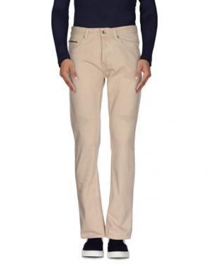 Джинсовые брюки MESSAGERIE. Цвет: песочный