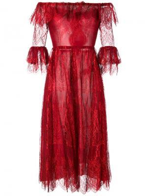 Платье Melissa Maria Lucia Hohan. Цвет: красный